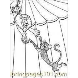 Madagascar 3 coloring page