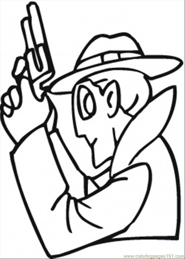 printable guns coloring pages - gun coloring page free mafia coloring pages
