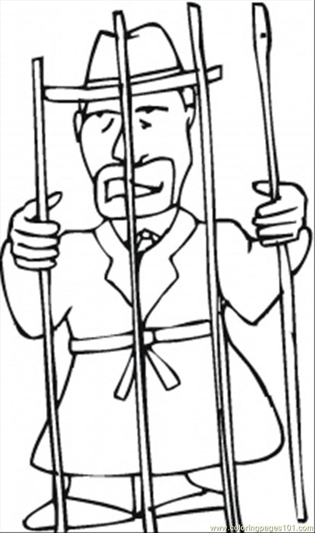 In The Jail Coloring Page Free Mafia Coloring Pages