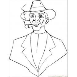 Hat And Cigar coloring page