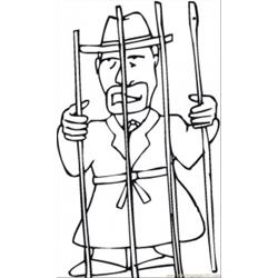 In The Jail coloring page