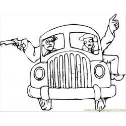 Mafia In The Car Free Coloring Page for Kids
