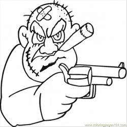 Old Mafioso Is Looking For Money Free Coloring Page for Kids