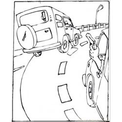 Shooting On The Road Free Coloring Page for Kids