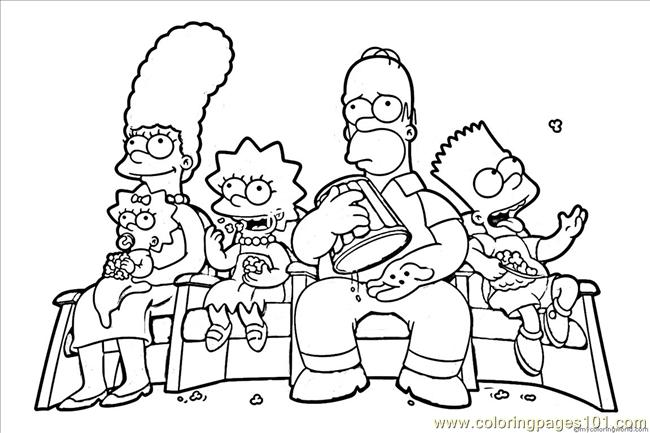 simpsons9 coloring page - Printable Simpsons Coloring Pages