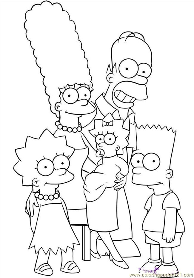 The Simpsons Step 6 Coloring Page - Free Maggie Simpson Coloring ...