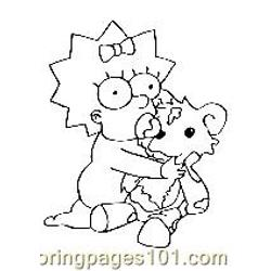 The Simpsons 005 Free Coloring Page for Kids