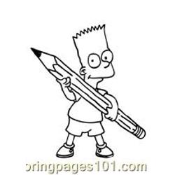 The Simpsons 008 Free Coloring Page for Kids