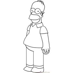 The Simpsons Step 4 Free Coloring Page for Kids