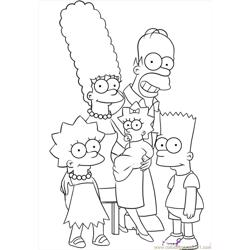 The Simpsons Step 6 Free Coloring Page for Kids