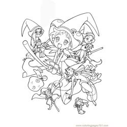 Magische Doremi 07 Free Coloring Page for Kids