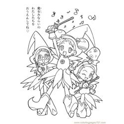 Magische Doremi 10 Free Coloring Page for Kids