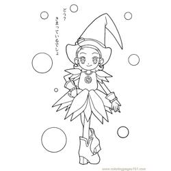 Magische Doremi 13 Free Coloring Page for Kids