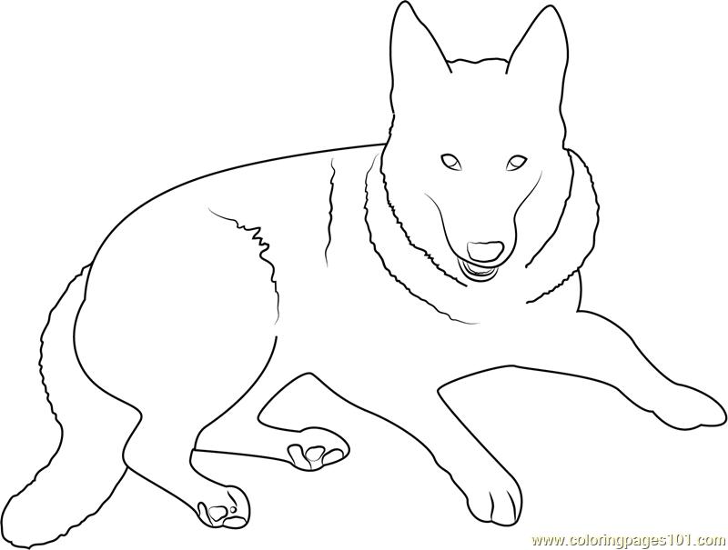 German Shepherd Dog Coloring Page - Free Dog Coloring ...