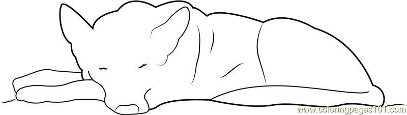 German Shepherd Puppy Coloring Pages Sleeping Page Free