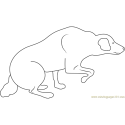 Dog Body Language Aggressive Stalking Free Coloring Page for Kids