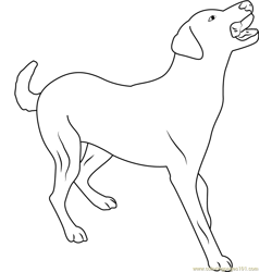 Dog Full Body Pose Free Coloring Page for Kids