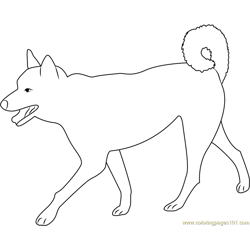 Dog Walking with Pride Free Coloring Page for Kids