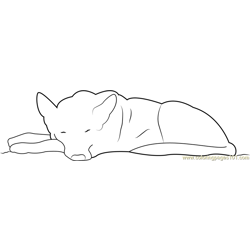 German Shepherd Sleeping Free Coloring Page for Kids