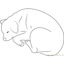 Jazz Sleeping Free Coloring Page for Kids
