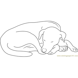 Let Sleeping Dog Free Coloring Page for Kids