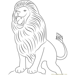 Aslan Lion Free Coloring Page for Kids
