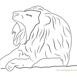 Lion Face Free Coloring Page for Kids