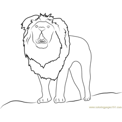 Lion Up Free Coloring Page for Kids