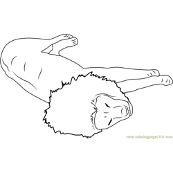 The Lion Sleeps Tonight Free Coloring Page for Kids