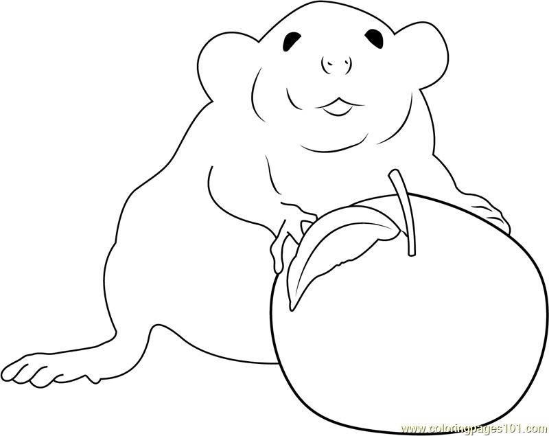 Me and My Apple Coloring Page