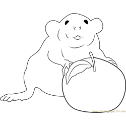 Me and My Apple Free Coloring Page for Kids