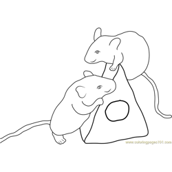 Two Mouse Free Coloring Page for Kids
