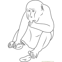 Cheeky Monkey Thief Free Coloring Page for Kids