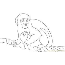 Monkeys on a Rope Free Coloring Page for Kids