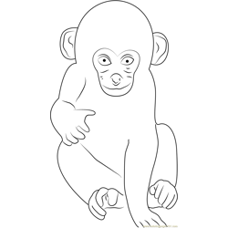 l Monkey Free Coloring Page for Kids