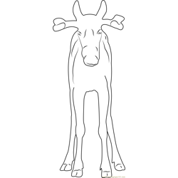 Moose Free Coloring Page for Kids