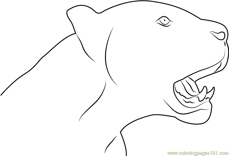 black panther face coloring page