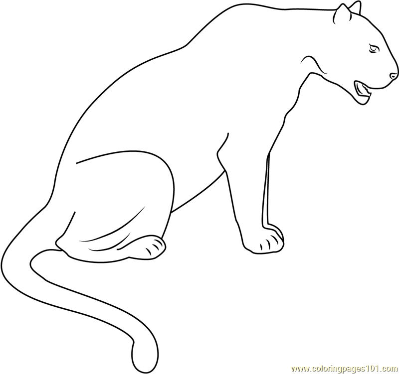 Panther Black Seet Coloring Page - Free Panther Coloring ...