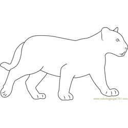 Black Baby Panther coloring page