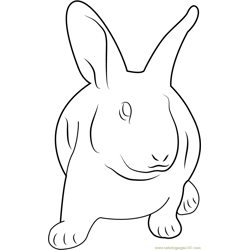Sad Rabbit Free Coloring Page for Kids