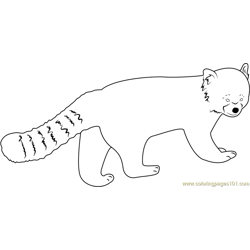 Angry Red Panda coloring page