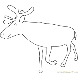 Reindeer See Free Coloring Page for Kids