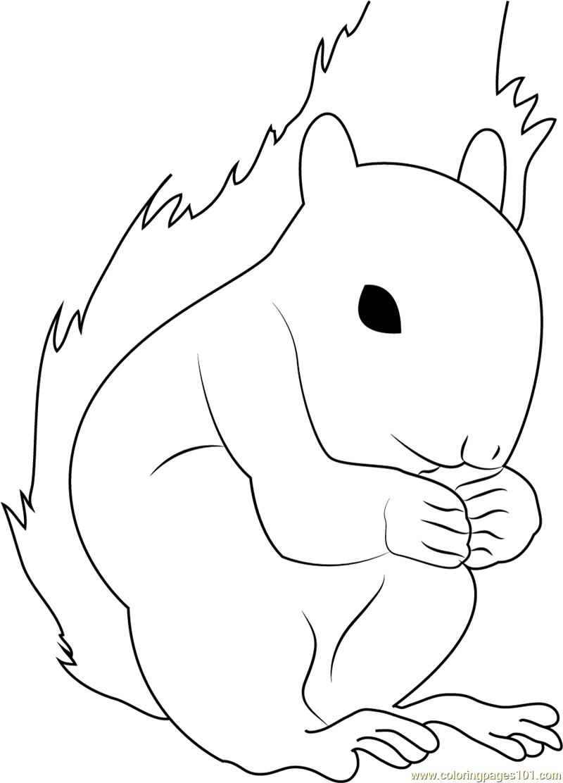 Squirrel Look Coloring Page