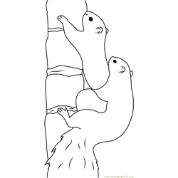 Eastern Gray Squirrel on Tree Free Coloring Page for Kids