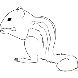 Sweet Little City Squirrel Free Coloring Page for Kids