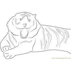 Wildlife of the Tiger Free Coloring Page for Kids