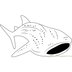 Requin Baleine Fishing Free Coloring Page for Kids
