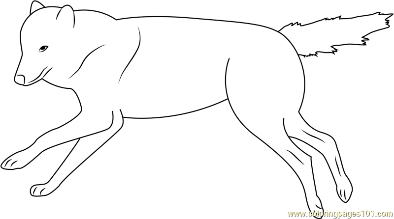 Wolf Running on the Pond Coloring Page - Free Wolf Coloring ...