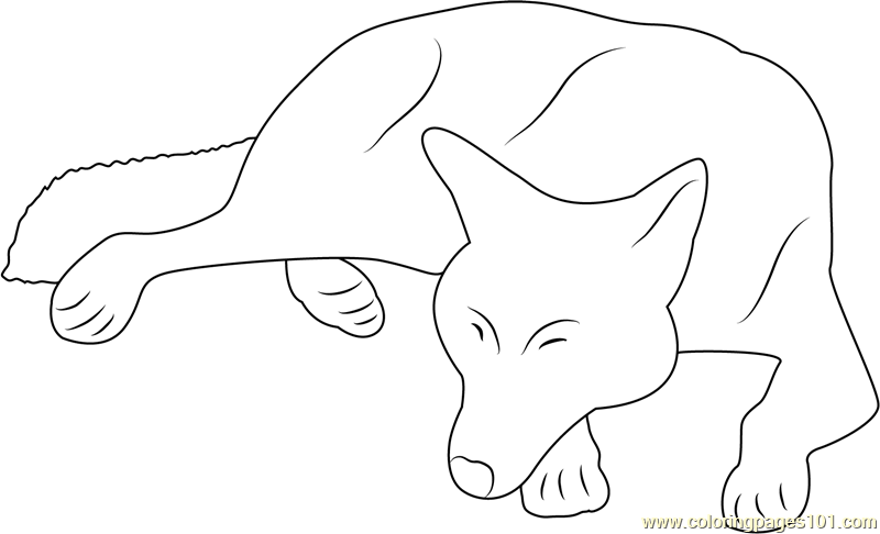 Wolf Sleep by Hecallsmelovedeath Coloring Page - Free Wolf Coloring ...