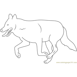 Mexican Wolf Free Coloring Page for Kids